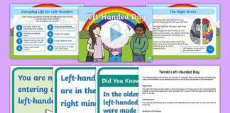 Twinkl resource pack for left handed children