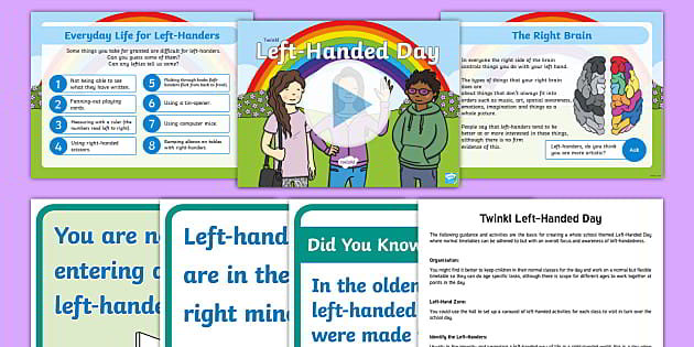 Twinkl resource pack for left handed children