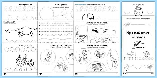 Twinkl's Pencil Control and Scissor Skills Resource Pack for left handed children