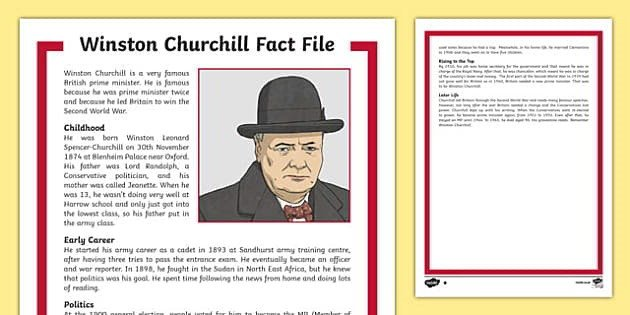 Winston Churchill factfile - Ideas and Tips to Help Your Left Handed Child