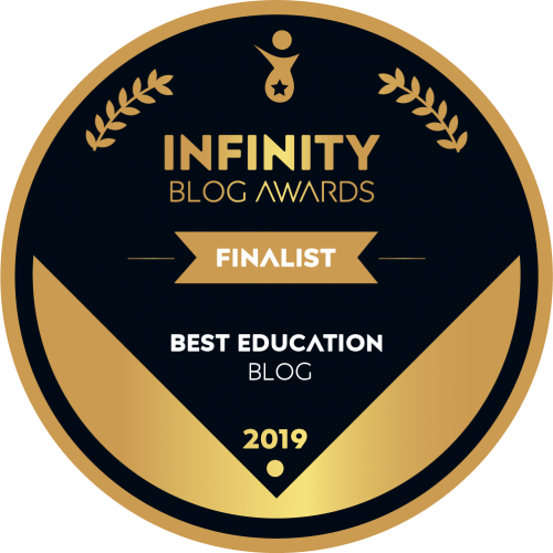 Infinity Blog Awards Finalist badge