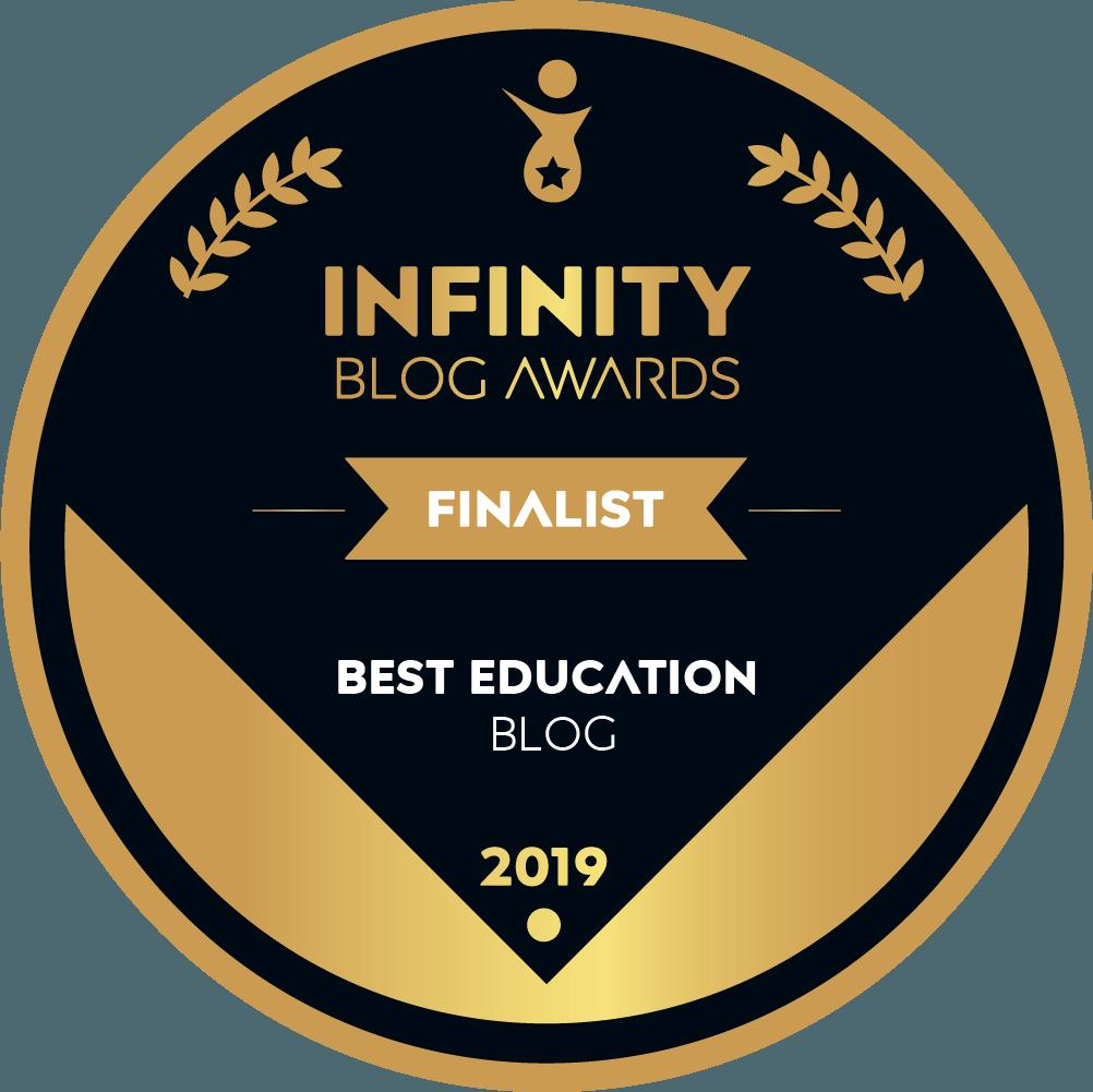 Infinity Blog Awards Finalist badge