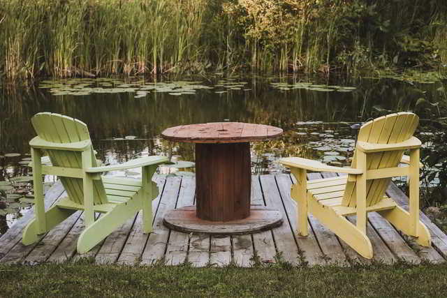 digital detox: two chairs by the lake