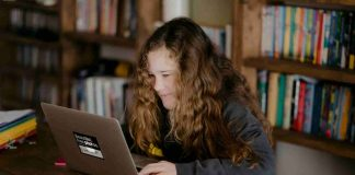 student privacy - girl with laptop
